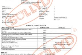 SOLLYD丝印硅胶BV标准检测证书